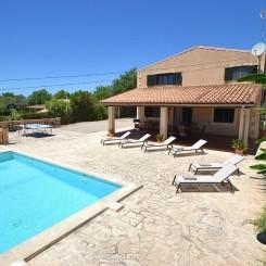 Ferienhaus Mallorca Llucmajor mit Pool Wifi Klima für 6 Personen