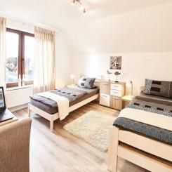 Monteurzimmer Flensburg - Doppelzimmer mit Gemeinschaftsbad