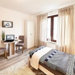 Monteurzimmer Flensburg - Einzelzimmer mit Gemeinschaftsbad