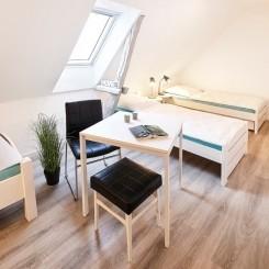 Monteurzimmer Flensburg - Einzelbett im Mehrbettzimmer  mit Gemeinschaftsbad