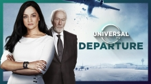 "Foto:  obs/Universal TV/©Universal TV Archie Panjabi und Christopher Plummer in ""Departure"